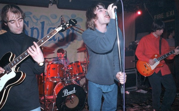 Mandatory Credit: Photo by Ian Dickson/REX (750595dl) Oasis  - Paul 'Bonehead' Arthurs, Tony McCarroll, Liam Gallagher and Noel Gallagher Various