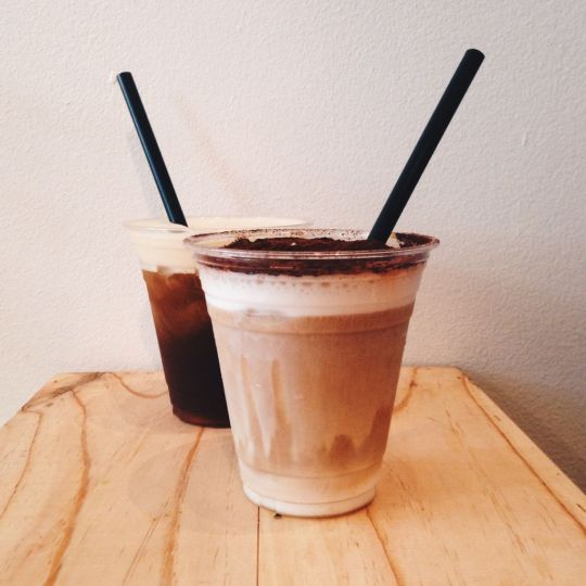 Iced Cappuccino and Cold Brew Coffee With Organic Honey