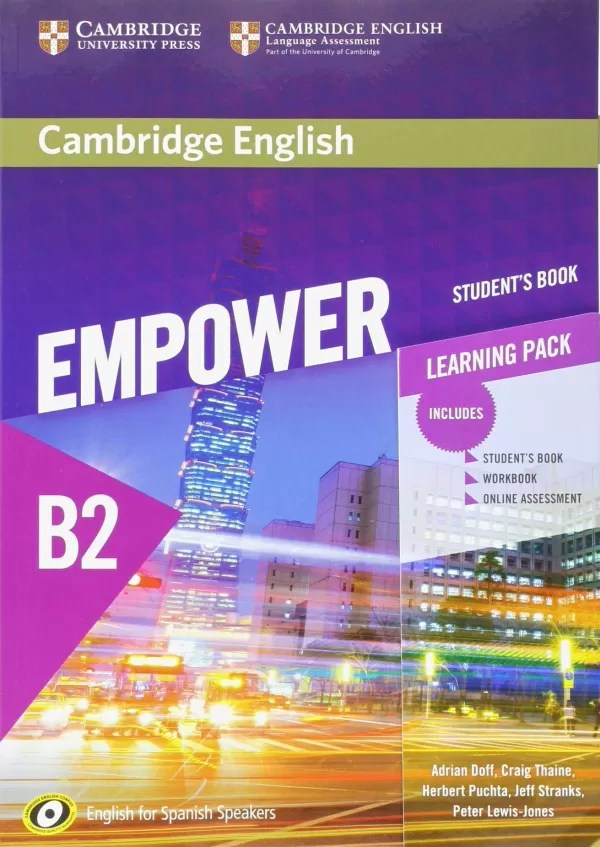 Libros B2 Ingles Pdf Cambridge English Empower For Spanish Speakers B2 Student S Book With Online Assessment And Practice And Workbook