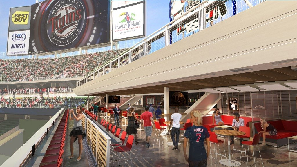 Minnesota Twins Unveil Plans For Multi Level Centerfield