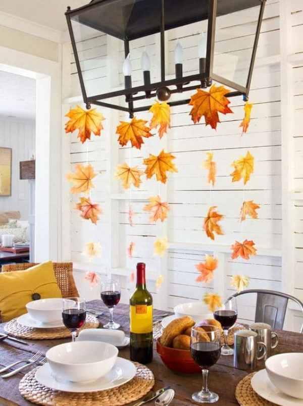 decoración ramas y hojas