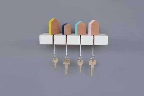 Colgador de llaves diy