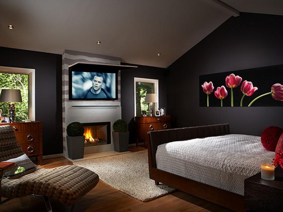 7 Ways To Hide Your TV - Porch Advice - tv in bedroom ideas
