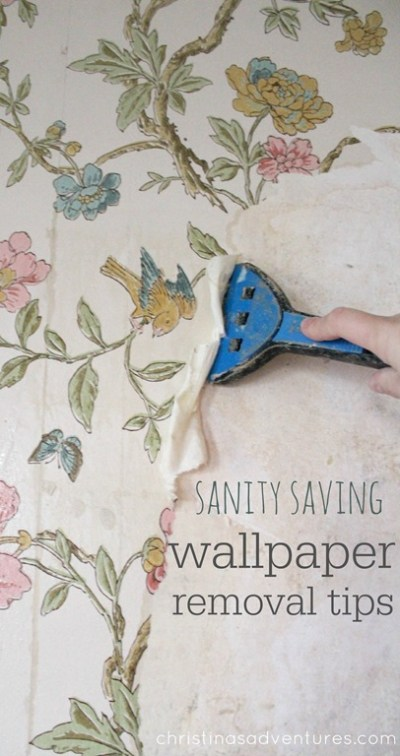 Tips for removing wallpaper from plaster walls (without chemicals!) - Christinas Adventures