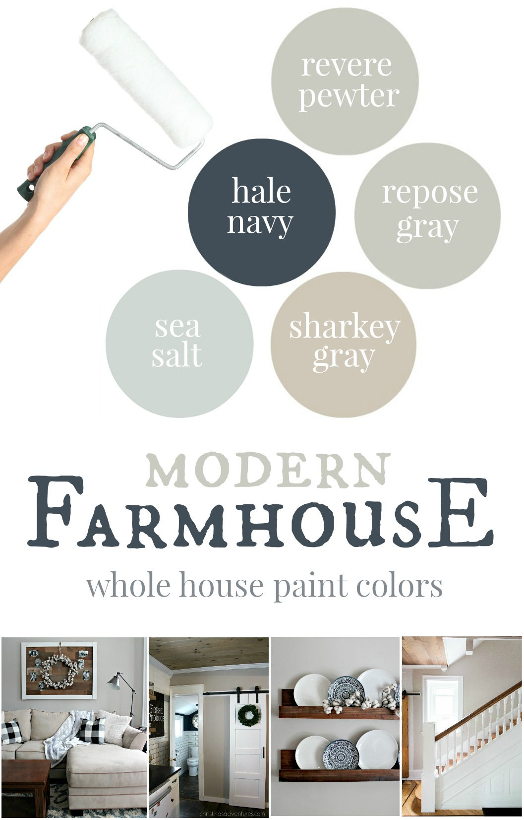 Farmhouse Color Palette Exterior Our House Modern Farmhouse Paint Colors Christinas