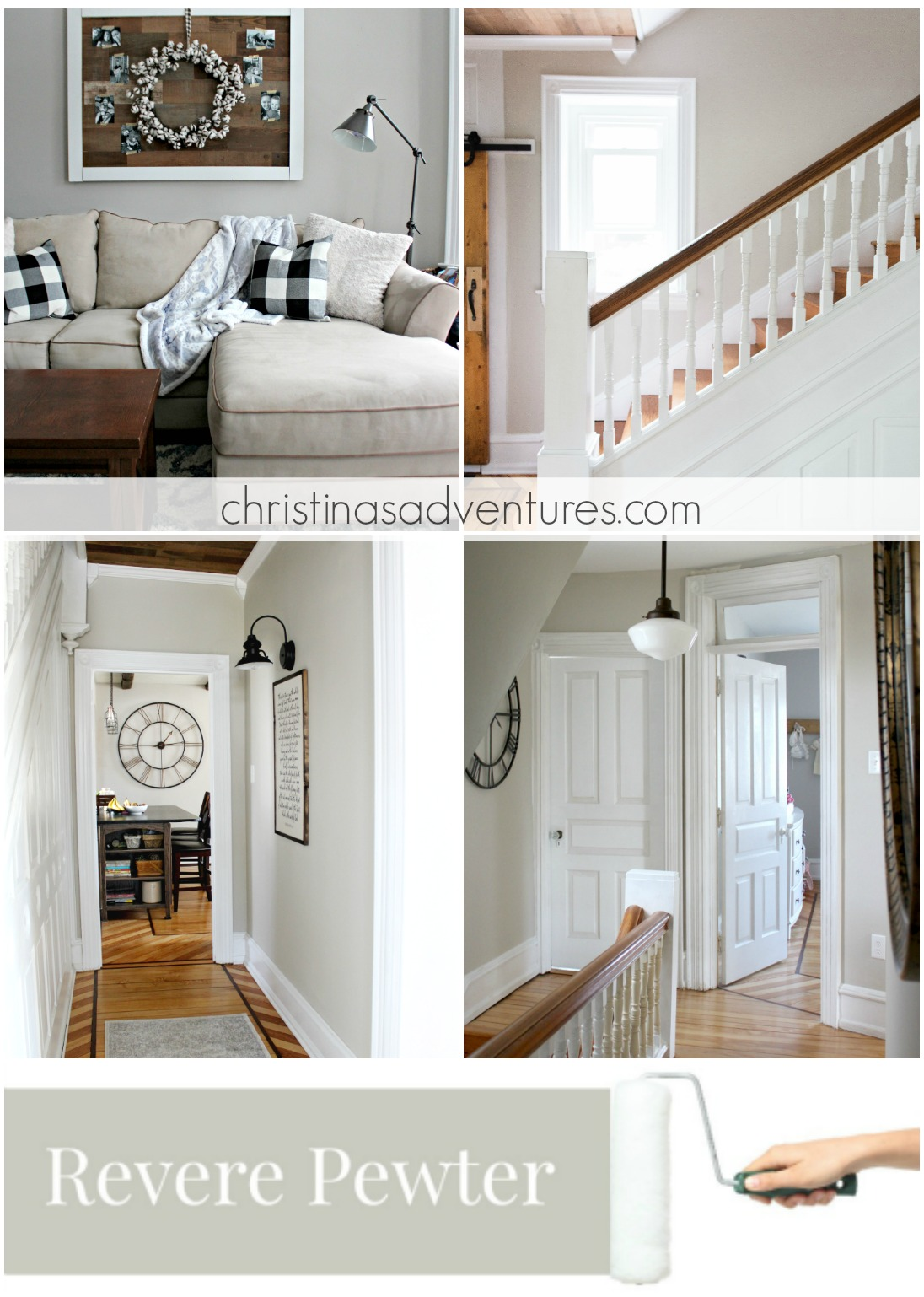Paint Colors That Flow From Room To Room Our House Modern Farmhouse Paint Colors Christinas Adventures