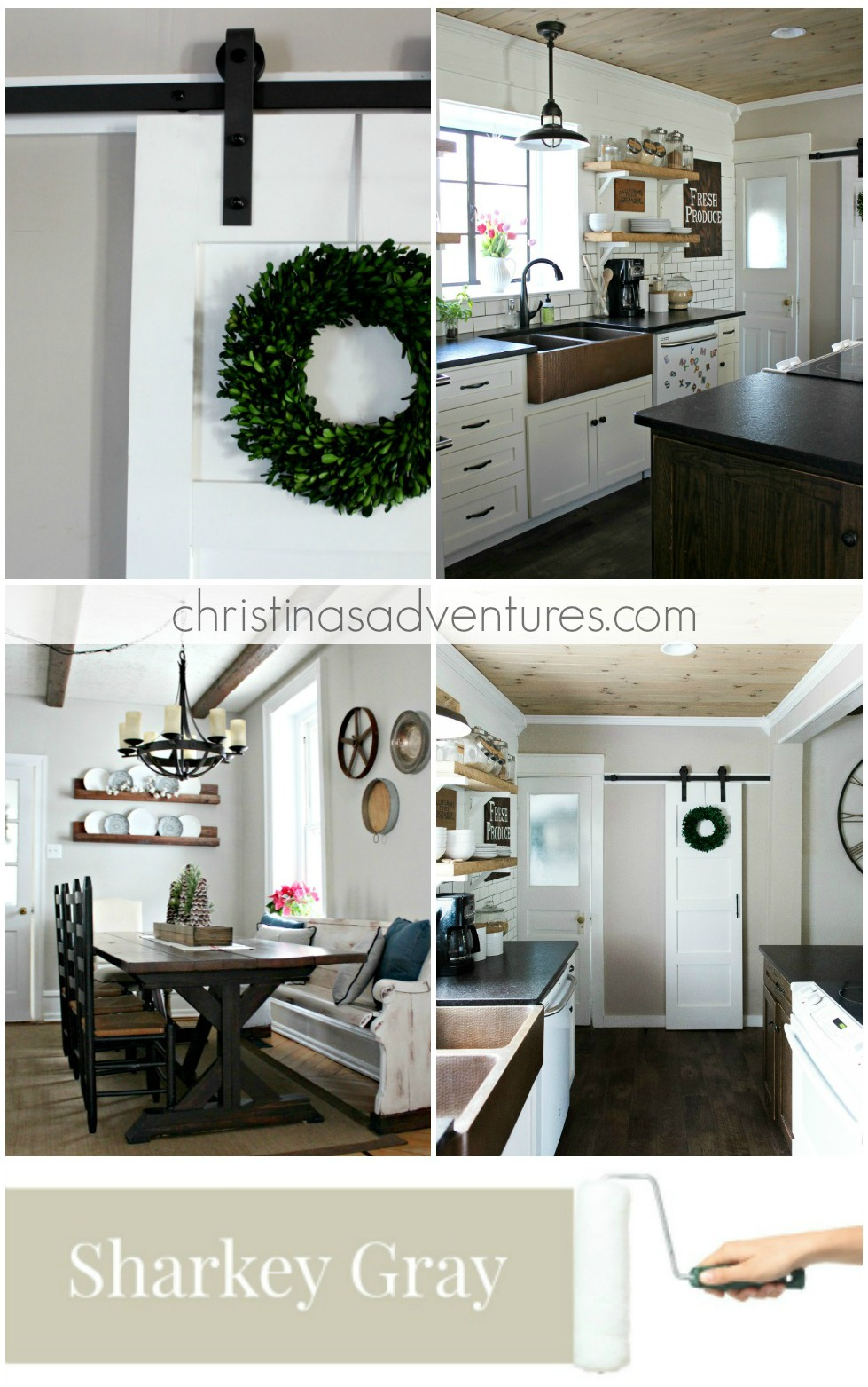 Gray Interior Design Our House Modern Farmhouse Paint Colors Christinas Adventures