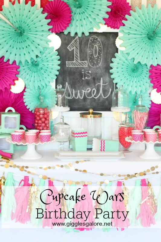 Cupcake Wars Birthday Party - Giggles Galore