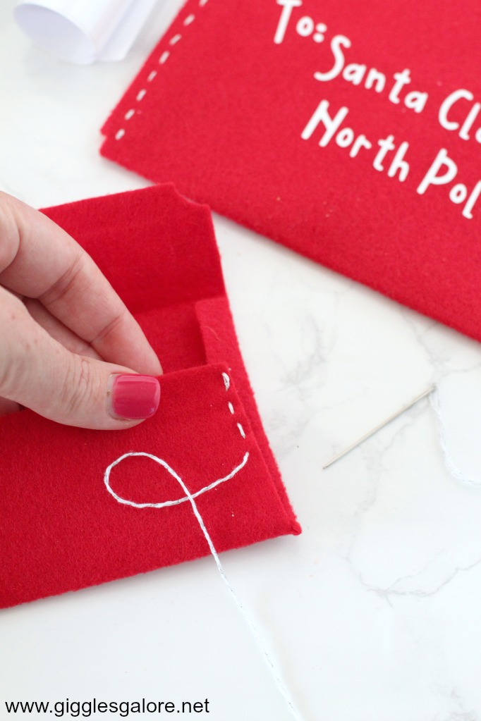 DIY Letter to Santa Felt Envelope - Giggles Galore