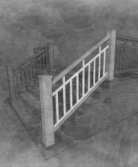 The Craftsman Stair Panel - The Porch CompanyThe Porch Company