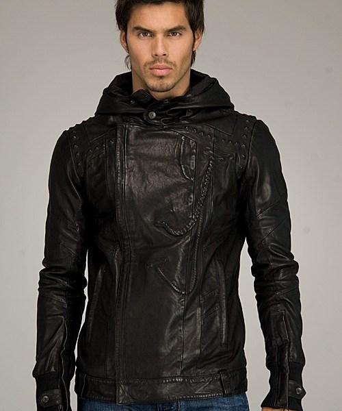 black-gold-diesel-hooded-leather-1