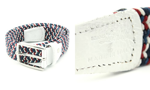 BEAMS Lights Weave Belt [Made in Italy]