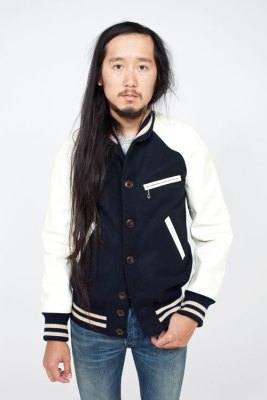 Junya Watanabe Man Varsity Jacket for Fall 2011