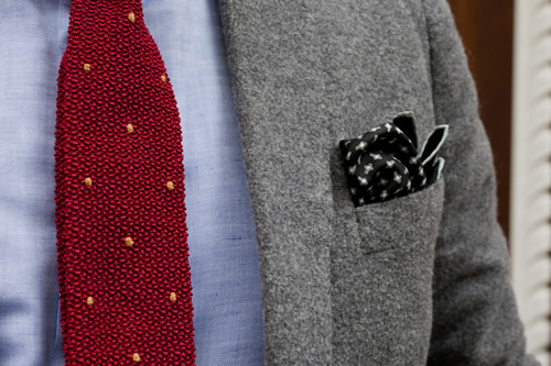 Drake's London For HODINKEE | Heritage Tie and Snowflake Pocket Square
