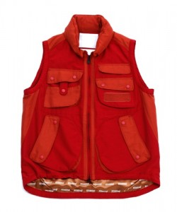 White Mountaineering 2-Tone Luggage Vest for S/S 2011 in Red