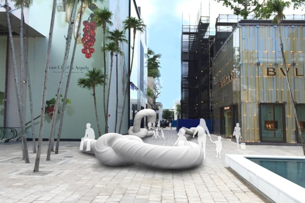 Snarkitecture's Candy Cane Sculptures at Miami Art Week-01