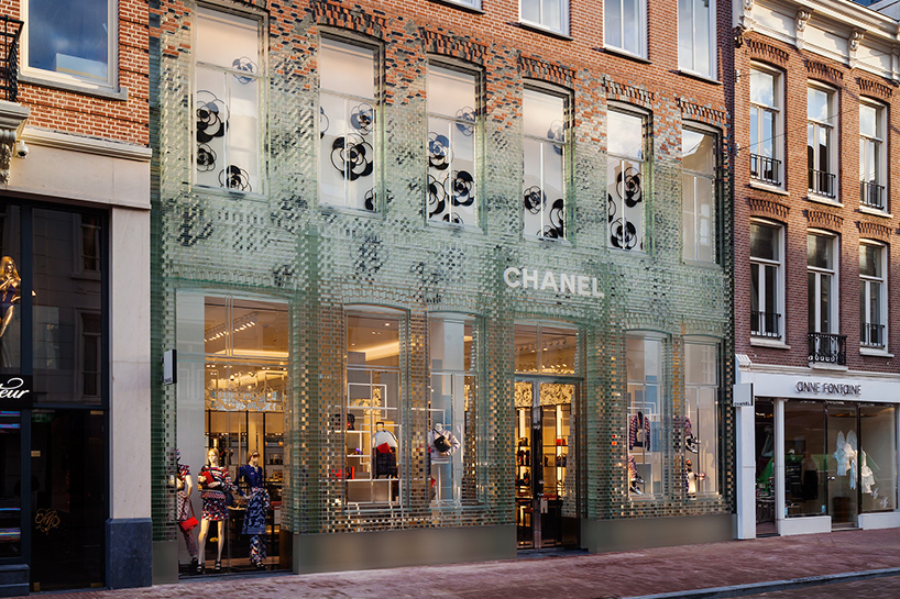 Chanel 39 s new amsterdam flagship 39 crystal houses 39 treatment for Architecture firm amsterdam
