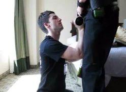 Policial no boquete para o companheiro.