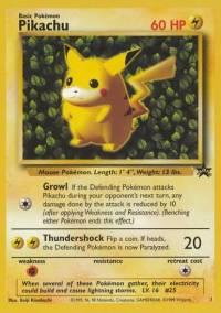 Pikachu 1 - Promo - Muut Kortit | Pokmon | Poromagia