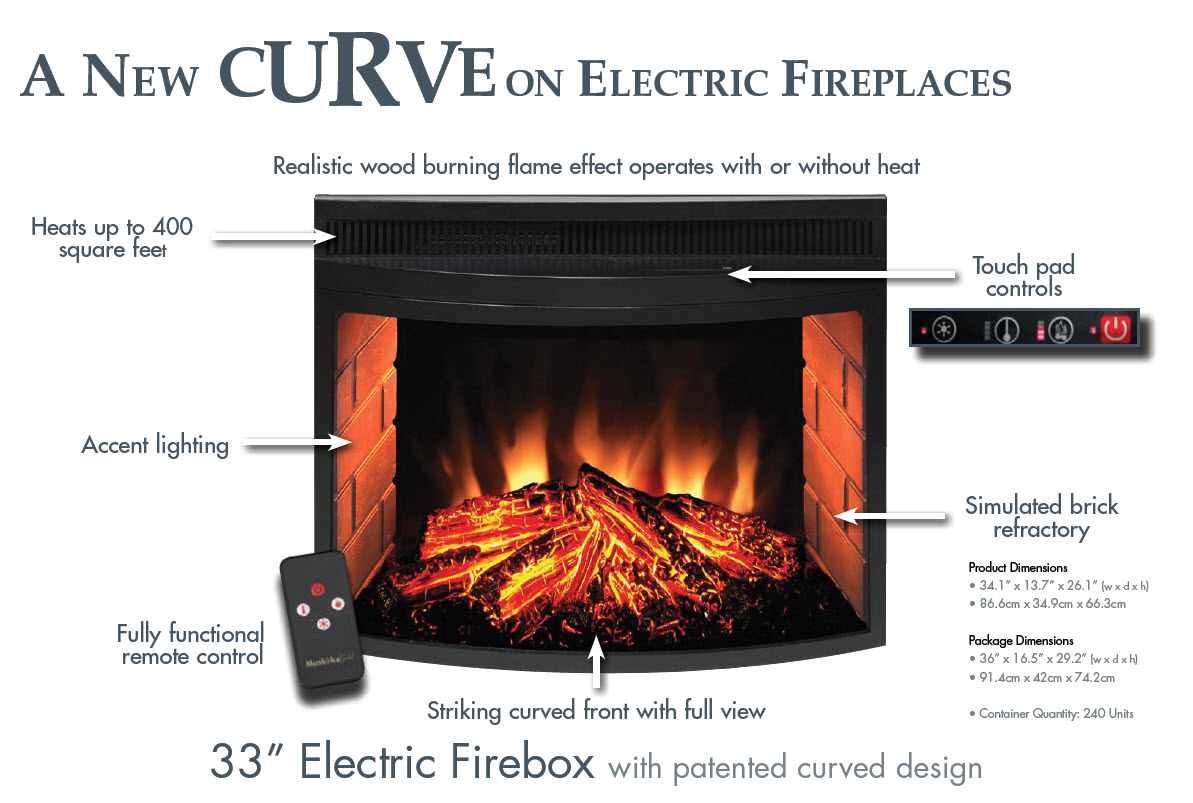 Curved Electric Fireplace A New Curve On Electric Fireplaces Portablefireplace