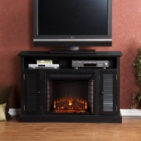 "48"" Antebellum Black Media Electric Fireplace - FE9300 ..."