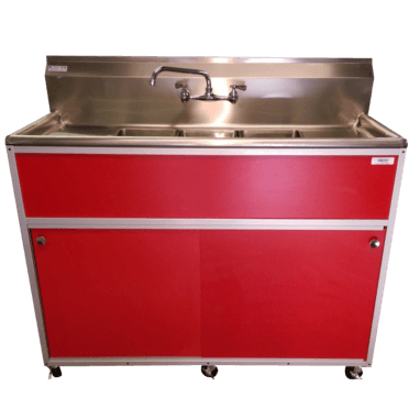 Commercial 3 Bowl Sink Cosmetology Sink