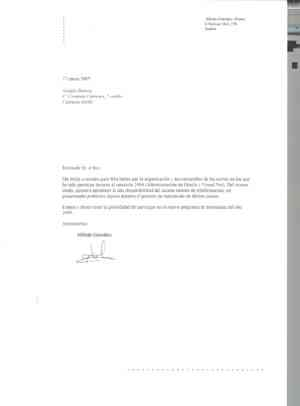 La carta de agradecimiento - Portal Financiero Blockchain