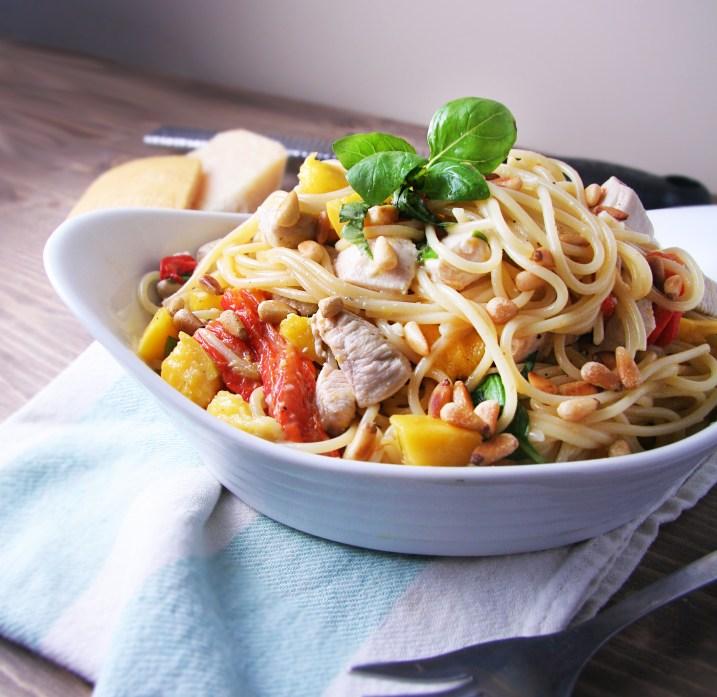 Mango Chicken Spaghetti 1