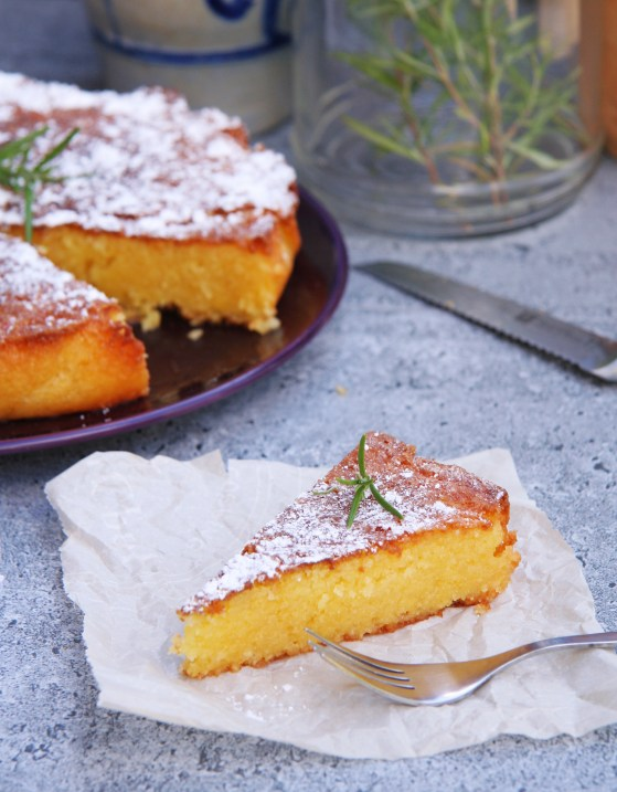 Rosemary Lemon Cornmeal Cake