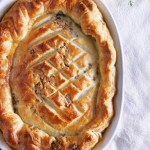 Turkey Leek Pot Pie with Walnut & Sage Stuffed Puff-Pastry