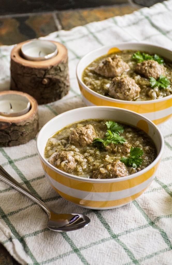 Dutch Chervil Soup with Meatballs
