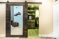 Closet Sliding Door with Mirror | Porter Barn Wood