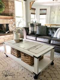 "Shanty 2 Chic ""Barn Wood Cart Coffee Table"" Bundle (First ..."