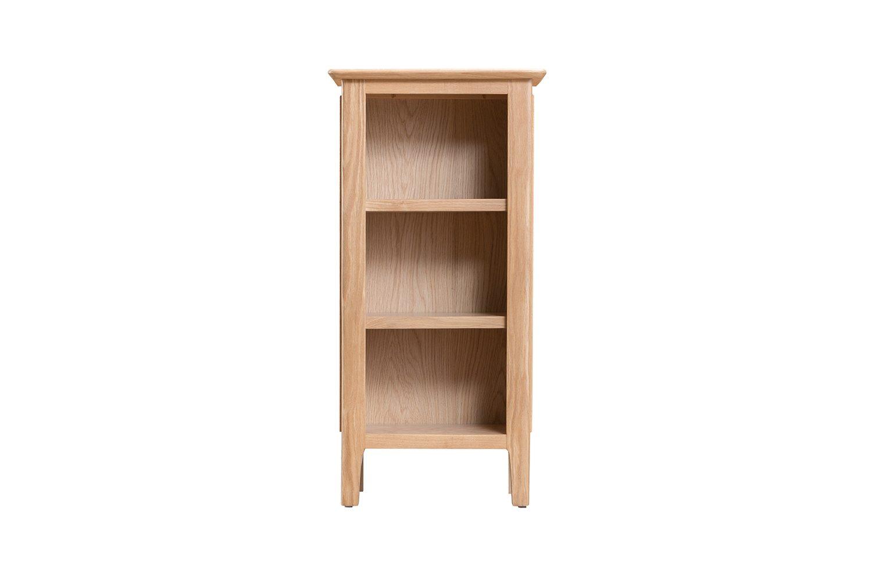 Verwood Oak Small Narrow Bookcase Portess