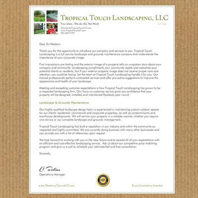 Business Stationery Landscaping Company - Design Portfolio
