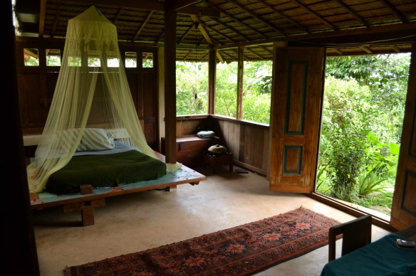 "The second bedroom, or living area of our largest restored Javanese residence, the Limas Gede. The mattress here can be tucked away and you will have a ""lesehan"" raised platform for cards, dominoes or a lazy afternoon tea."