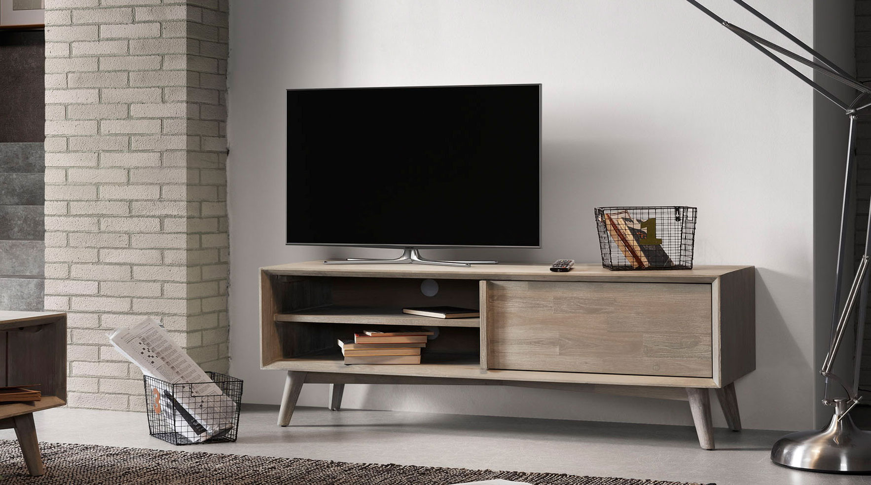 Muebles De Television Mueble Tv Madera Nórdica Derwon 2 No Disponible En