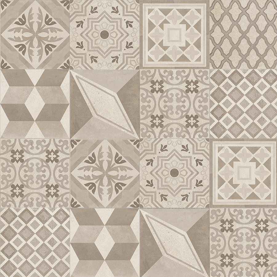 Patchwork Carreaux Ciment Soho Decor 20x20 Carreau Ciment Patchwork Beige Porto Venere