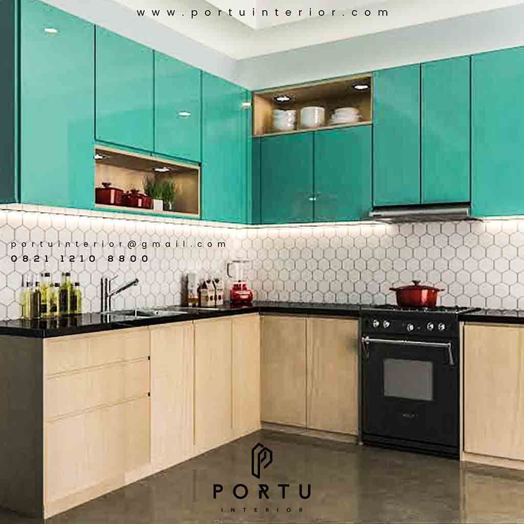 Design Kitchen Set Minimalis Modern Project Kitchen Set Minimalis Modern Komp Johar Hijau Pantai Indah