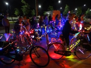 colourful night ride