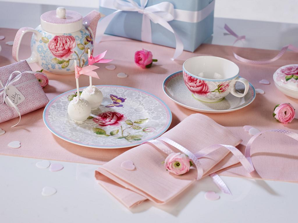 Villery Und Boch Rose Cottage Teetasse Mit Untertasse Pink Von The House Of