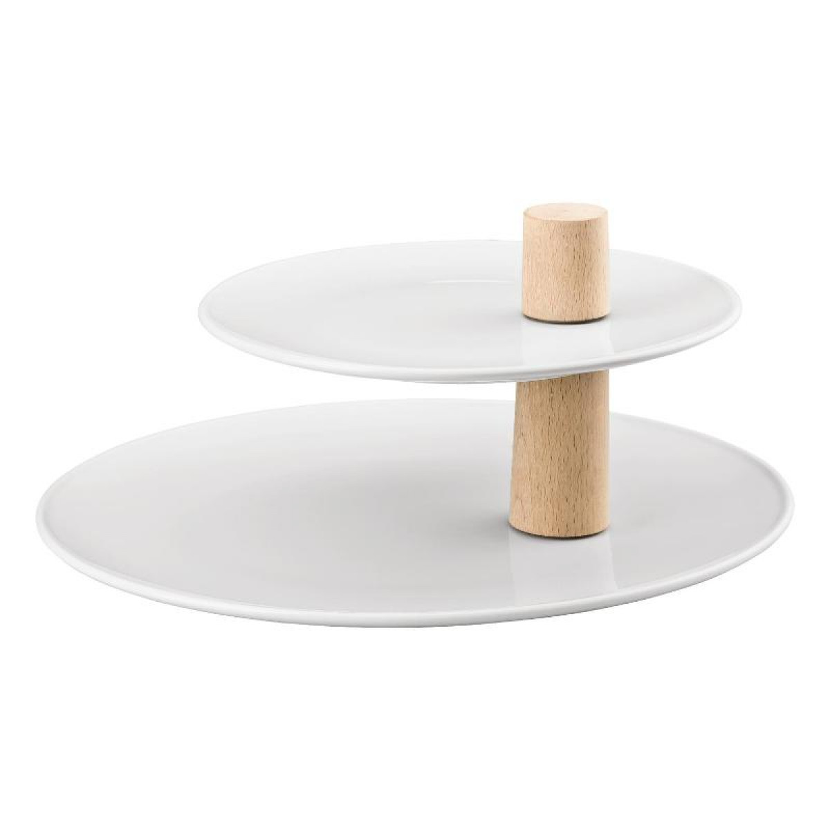 Holz Weiß Thomas Ono Weiss Holz Serving Stand 2 Piece Set Upper Plate 22 Cm Lower Plate 32 Cm