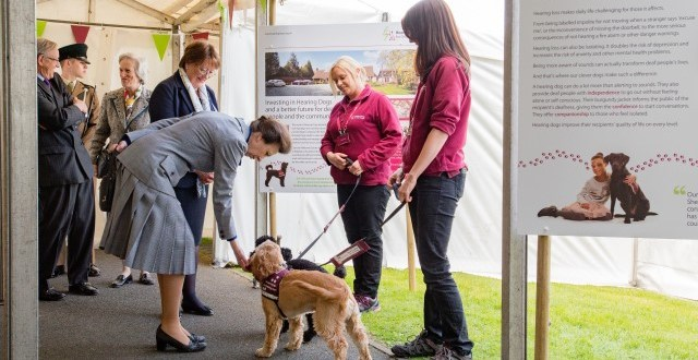 HRH The Princess Royal visits Buckinghamshire charity Hearing Dogs for Deaf People