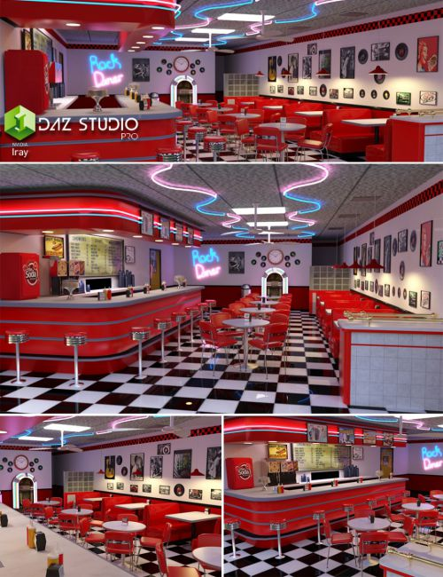 Ice Cream Wallpaper Hd 1080p 50 S Diner 3d Models For Poser And Daz Studio