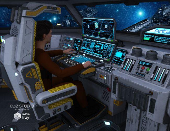 3d Planet Wallpaper Sci Fi Cockpit Interior 3d Models For Poser And Daz Studio