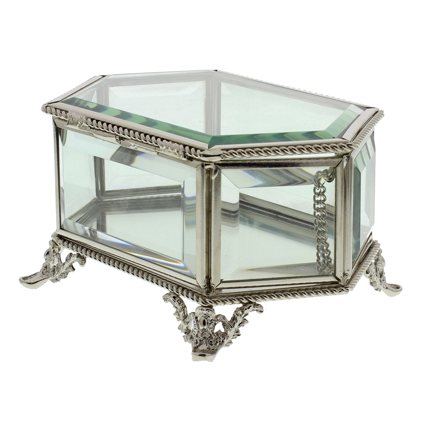 Vintage Style Jewellery Box Clear Glass Vintage Style Jewellery Box