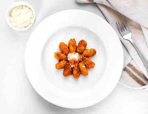 Homemade Polenta Gnocchi with Steamed Lobster