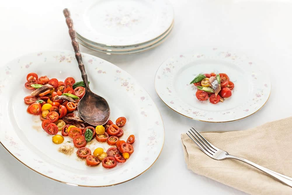 Tomato Salad with Anchovies