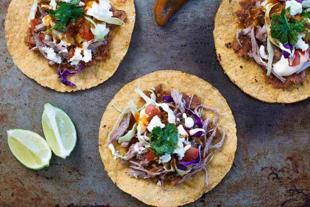 Tostada Recipe with Pork Carnitas