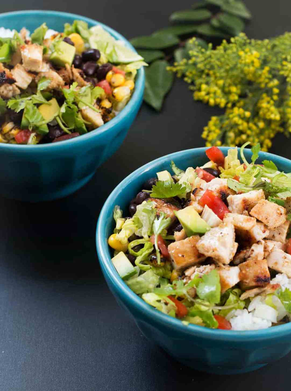 chicken-taco-bowls-homemade-taco-seasoning